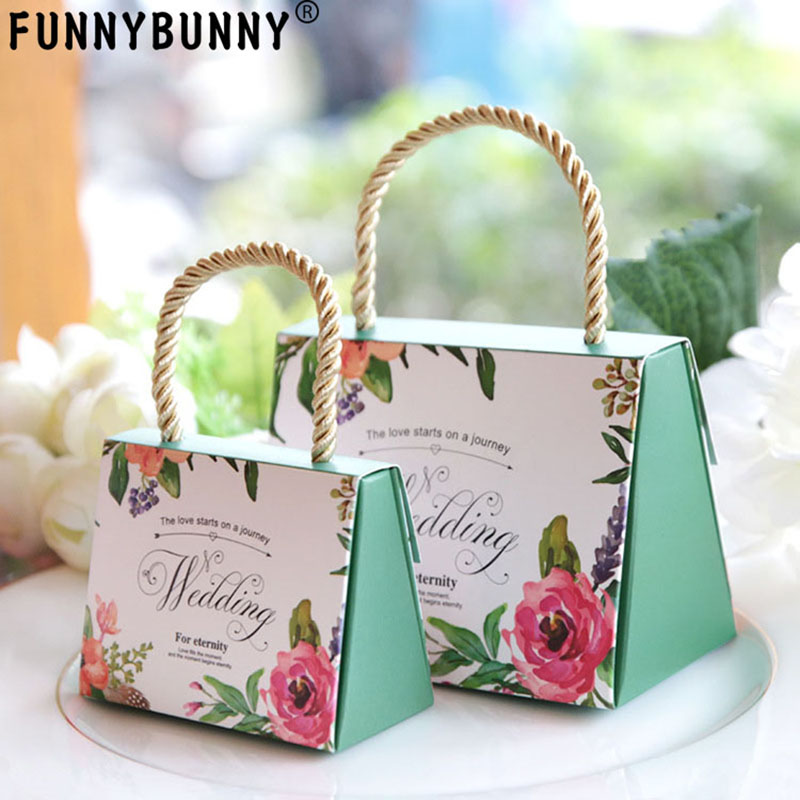 FUNNYBUNNY Candy Box Wedding Box Gift Boxes  Gifts For Guests Party Favors Bags Candy Paper Gift Chocolate Box Event Decoration