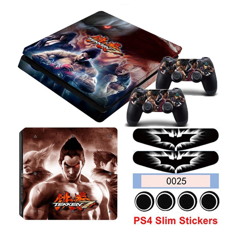 Hot Tekken 7 Vinyl Game Skin For Playstation 4 Slim PS4 Slim Skin Sticker For Console +2 PCS Controller Cover Stickers