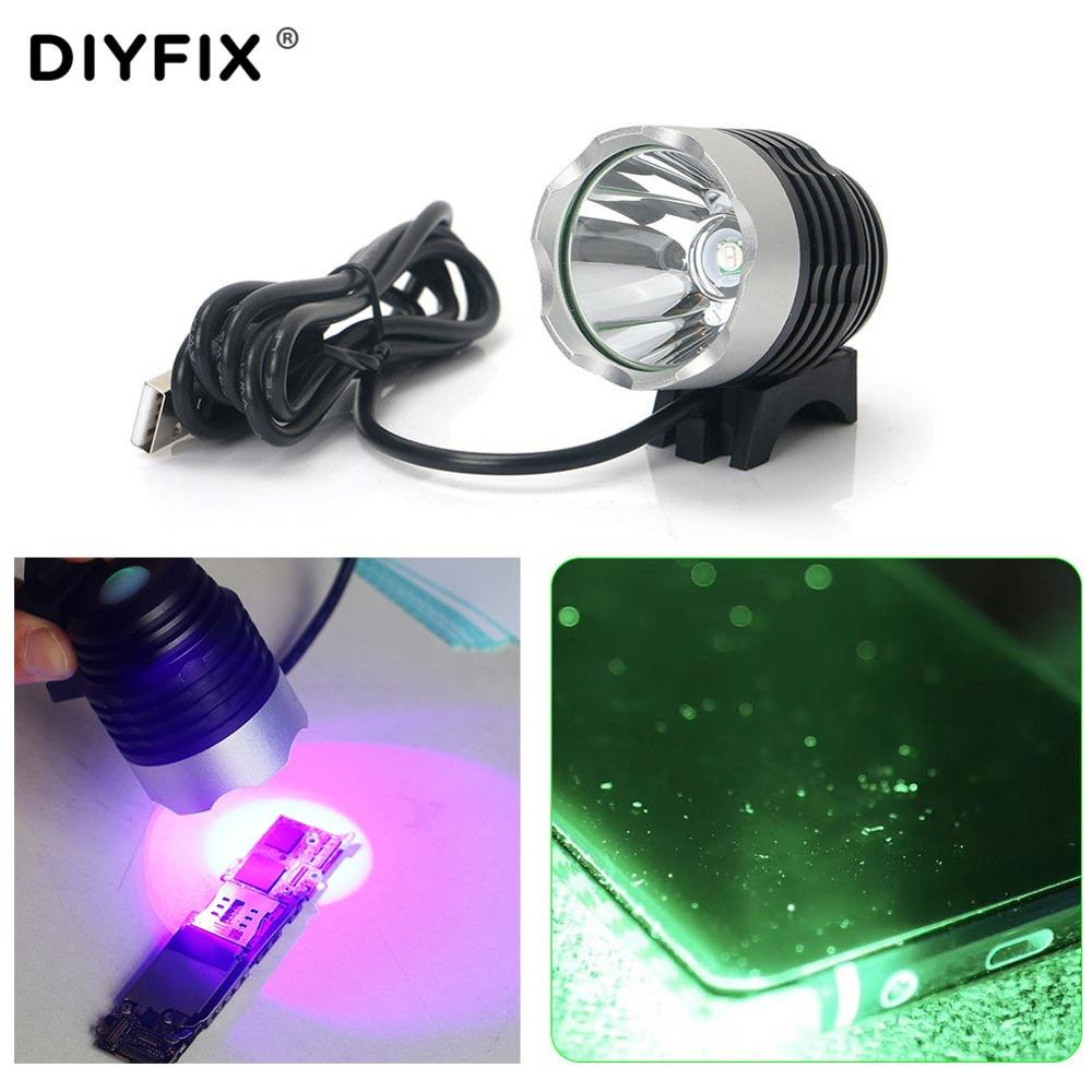 <font><b>UV</b></font> <font><b>Lamp</b></font> Green Oil Fast Curing Light Dust Fingerprint Scratch Grease Searchlight Phone LCD Screen <font><b>PCB</b></font> CPU NAND Chip Repair Tool image