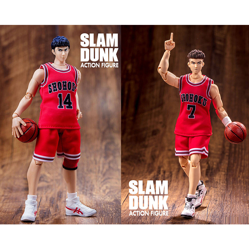 все цены на Anime SLAM DUNK Figure PVC SHF Genos Action Figure Toys Miyagi Ryota Mitsui Hisashi GT Collectible Model Gift For Boy Girl онлайн
