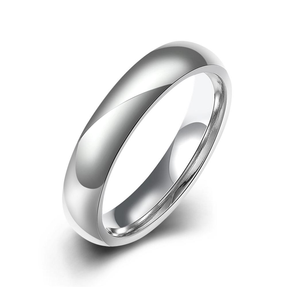 Mens Highly Polished Silver Chrome SS Wedding band Ring 7mm wide 316l UK V