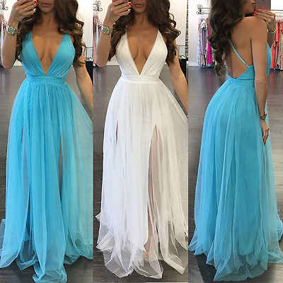 Phụ Nữ New BOHO Dài Party Prom Floral Bãi Biển Mùa Hè Maxi Dress Ladies Womens Dresses Sexy Sundress