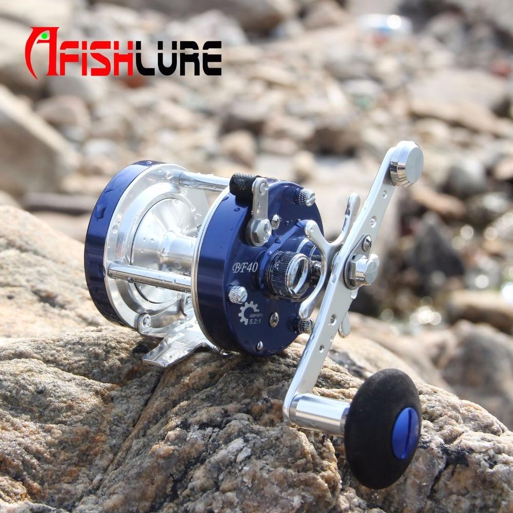 High Strength All Metal Trolling Fishing Reels 6+1 Bearing Drum Reel Saltwater Fishing Reel Baitcasting Wheel Black/blue