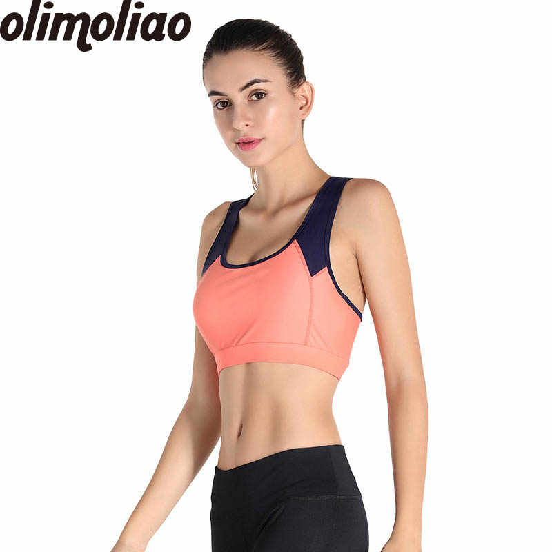 2c55ed4a108 Women Yoga Sports Bra Jersey Sexy Seamless Push Up Plus Size Athletic  Underwear Fitness Crop Top