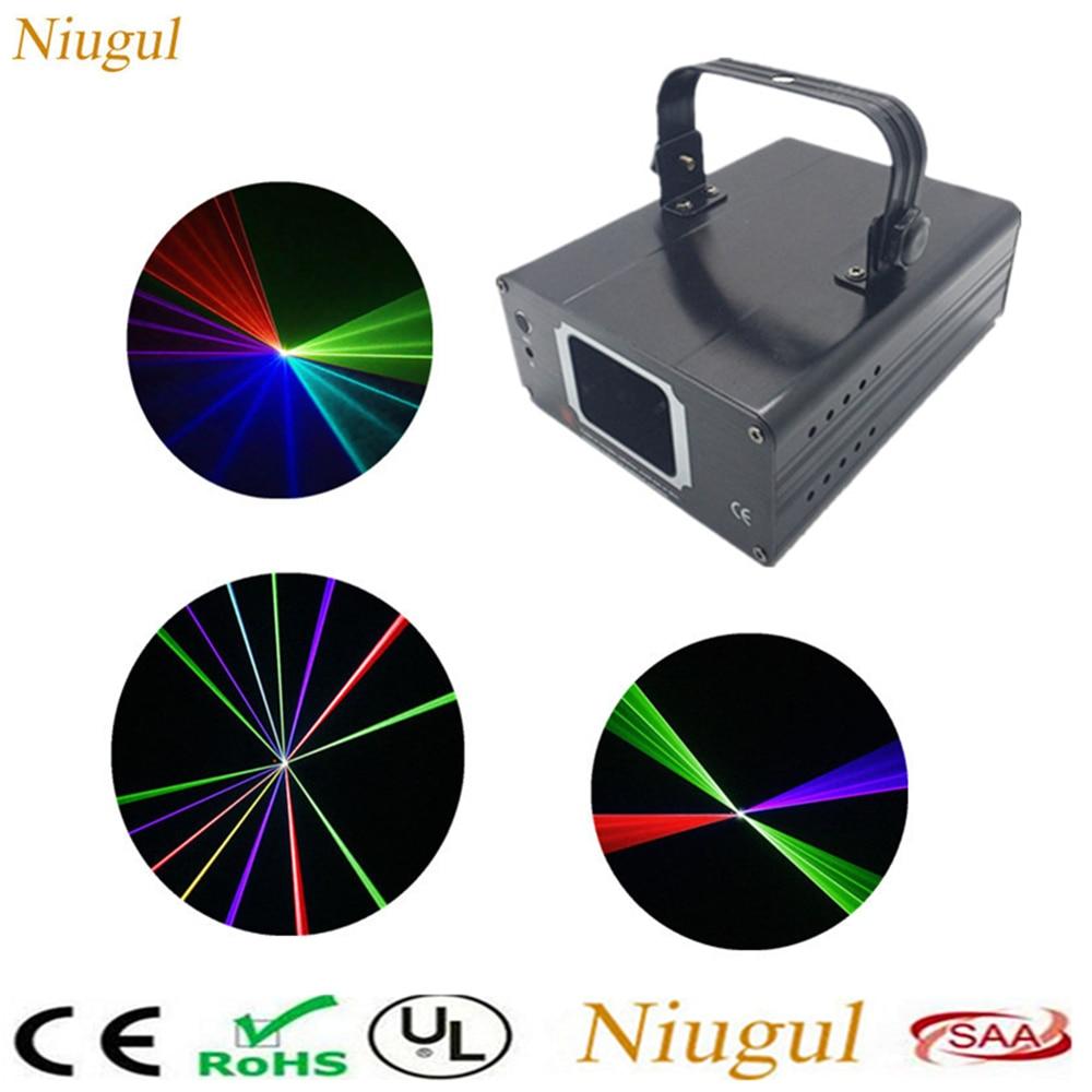 Niugul Mini RGB Laser LED Home Stage Lighting Beam Effect DMX Laser Projector Disco Party Lights