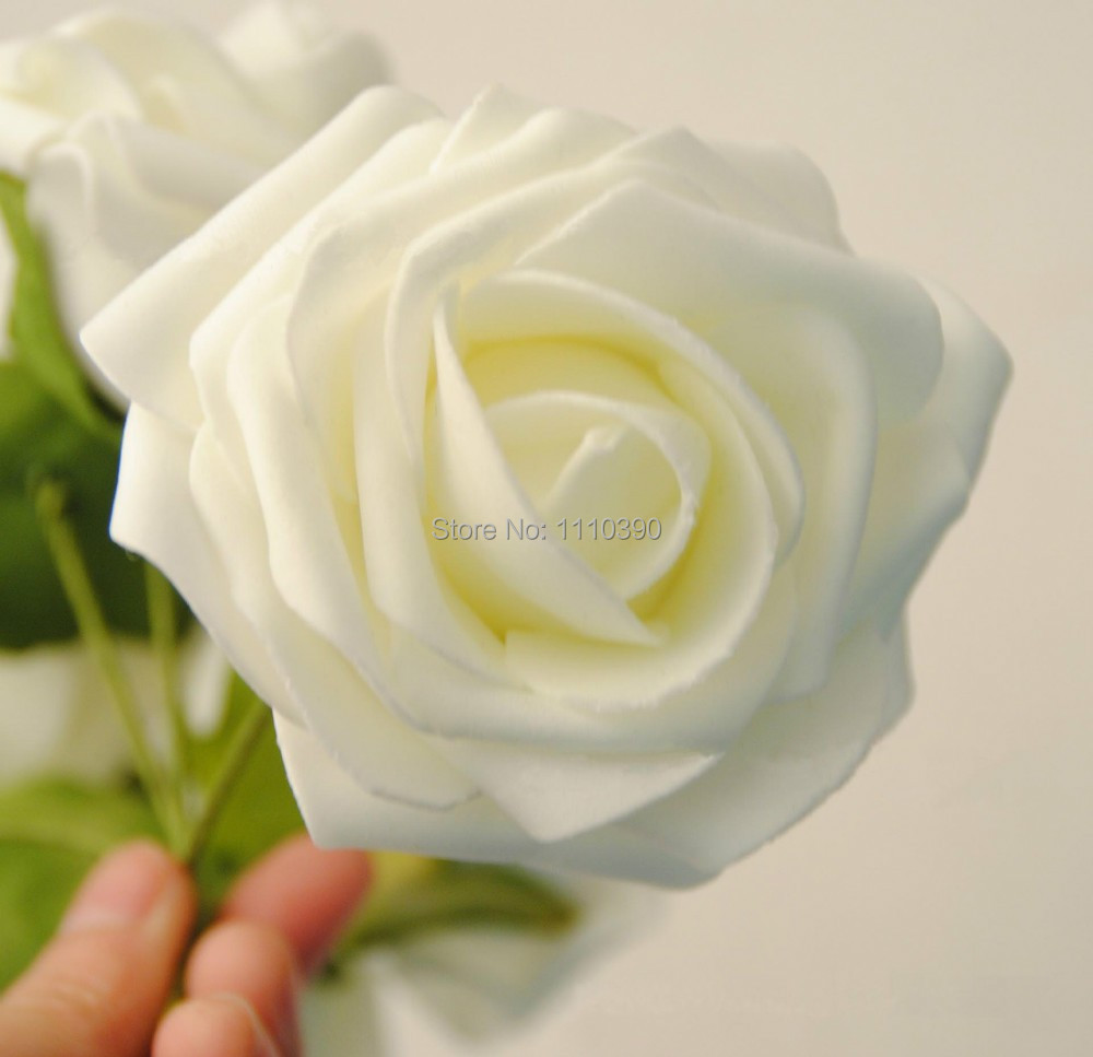Artificial floral foam flowers bouquet,real touch roses,Diy craft ...
