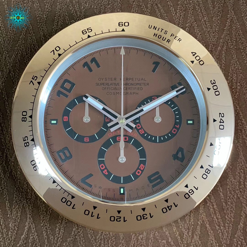 New Large Luxury Design Metal Watch Shape Wall Clocks With Silent Mechanism