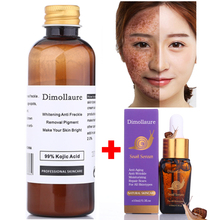 Dimollaure 30g pure Kojic Acid whitening cream+Snail Hyaluronic acid serum removal Acne scar pigmentt melanin Moisturizing serum kojic acid and its derivatives