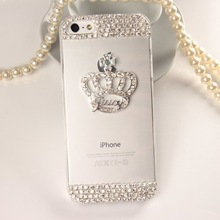 Luxury 3D handmade Crystal Imperial Crown Rhinestone Diamond Bling Clear hard case cover for iPhone4S 5S 5C 6/6PLUS 7/7PLUS