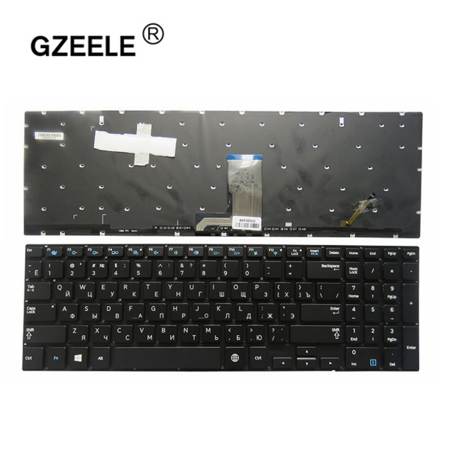 GZEELE Russian Laptop Keyboard For Samsung 880Z5E 870Z5E 770Z5E 780Z5E 670Z5 670Z5E RU Backlit Keyboard Layout 680Z5E Black New