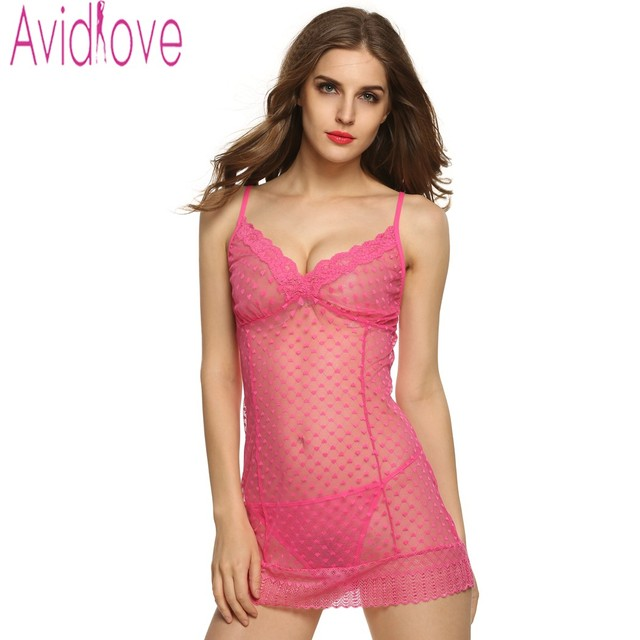 Avidlove Sexy Women Exotic Lingerie Dress Sexy Semi-Sheer Lace Mesh Babydolls Lingerie Fascinate Night Wear Sexy Costumes U2
