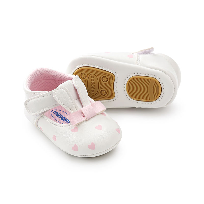 New Hot Sale Baby Girl Shoes Cute Toddler Hard Sole First Walkers Spring/Autumn Infant PU Leather Shoes For Party