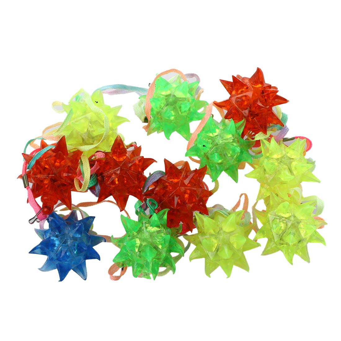 New Arrival Light-Up Flashing Star LED Ball Pendant Necklace