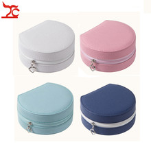 Useful Mini Jewelry Box Leather Makeup Case Portable Travel Ring Earring Organizer Cosmetic Boite Bijoux