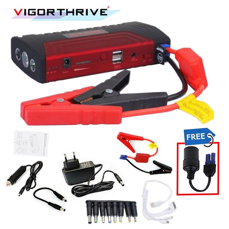 Pour voiture essence Mini pic d'urgence Portable 600A 12 v voiture saut démarreur Auto batterie Booster puissance bankstart dispositif