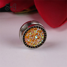 Vintage Crystal Brooch Women Scarf Buckle Strong Magnet Brooches Fashion Jewelry for Female Clothing Elegant Accessories Brooch