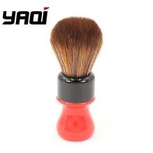 Yaqi brochas de afeitar para el pelo, kit de brochas de pelo sintético marrón de la mejor calidad, versión negra de 24mm Ferrari Rough Complex