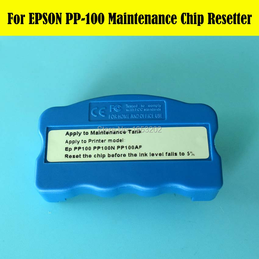 Sale!!! Mantenance Chip Resetter For Epson PP100 PP100N PP100AP PP100II PP-100II Waste Ink Tank vilaxh for epson p600 chip resetter for epson surecolor sc p600 printer t7601 t7609 cartridge resetter