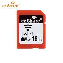 Original ez compartilhar memória sd wifi 32gb 16gb sem fio compartilhar cartão classe 10 64g 128g para canon/nikon/sony cartão livre reade