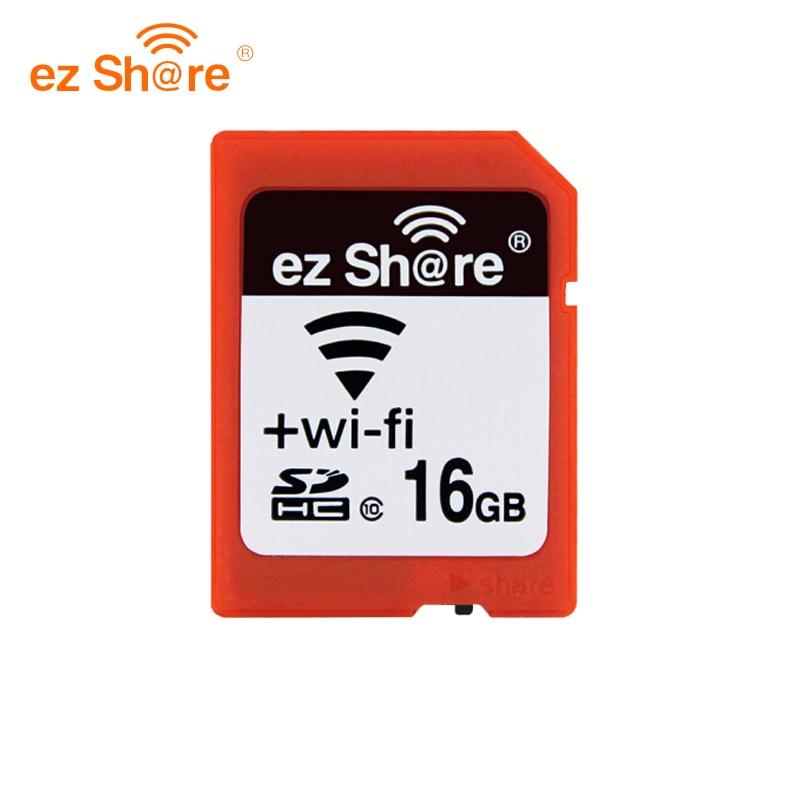 Original Memória sd EZ compartilhar wifi 32 gb 16G Cartão sem fio Compartilhar 4g 8 Classe g 10 64g 128g para canon/nikon/sony cartão reade cartão Livre