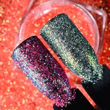 T-TIAO CLUB Holographic Nail Glitter Shining Holo Sequins Powder 3D Manicure Art Paillettes Decoration Tips