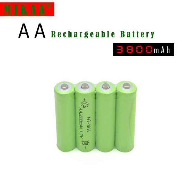 20pc a lot Ni-MH 3800mAh AA Batteries 1.2V AA Rechargeable Battery NI-MH battery for camera,toys