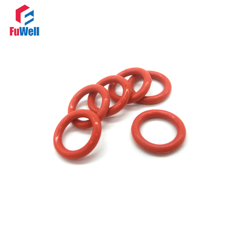 цена на 20pcs Red Silicone 4mm Thickness O Ring Seal Gasket OD 36mm-60mm Good Elasticity Oring Seals Gasket VMQ O Ringen Seal Washers