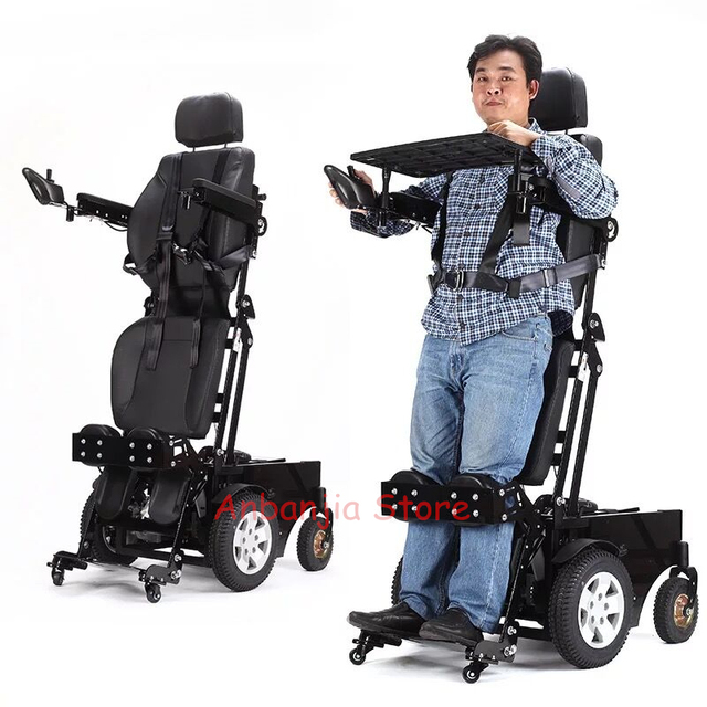 High Quality Electric Wheelchair Power Standing Stand Up Chair For Disabled  People