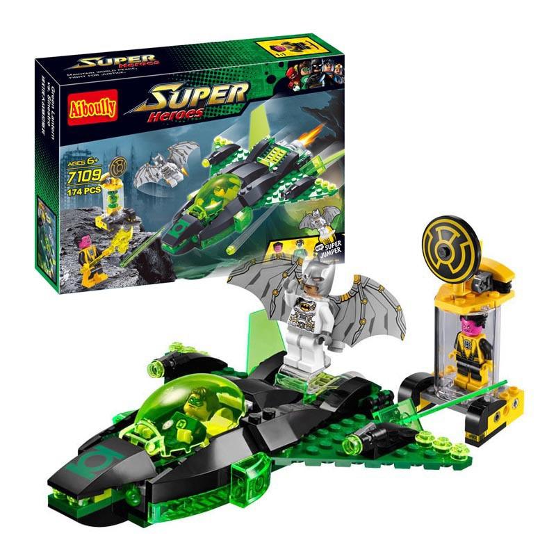 Decool 7109 Super Heroes Batman Green Lantern vs. Sinestro building Blocks Bricks Toys for children Boy Game Lepin Bela 76025
