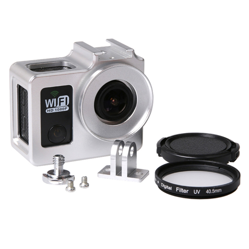 Universal En Alliage D'aluminium De Protection Cas pour SJCAM SJ4000 Wifi + Wifi SJ7000 Sport Action Caméra 40.5mm Filtre UV De Protection Cap
