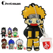 USB Flash Drive Cartoon Naruto Sasuke Ninja Pen Drive 4GB 8GB 16GB 32GB 64GB 128GB Pendrive USB 2.0 Flash Memory Stick Gifts