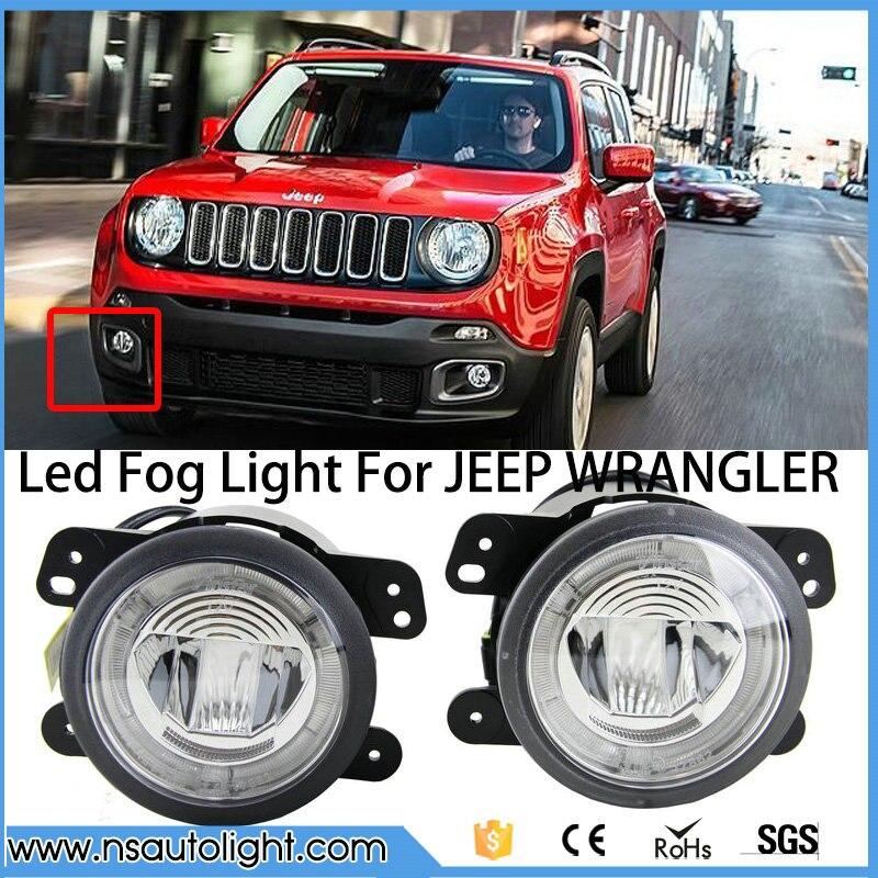 car accessories led fog light high power daytime running for CHARGER FOR JOURNEY JEEP WRANGLER CHEROKEE