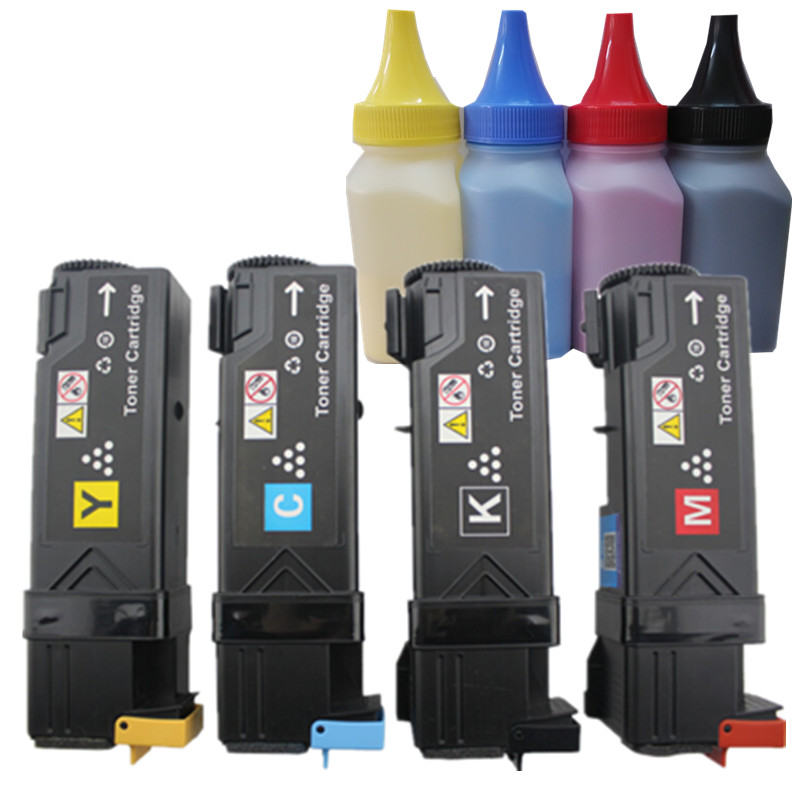 Compatible XER Phaser 6500, 6500DN, 6505 color toner cartridge + color toner powder for Xerox 6500Compatible XER Phaser 6500, 6500DN, 6505 color toner cartridge + color toner powder for Xerox 6500