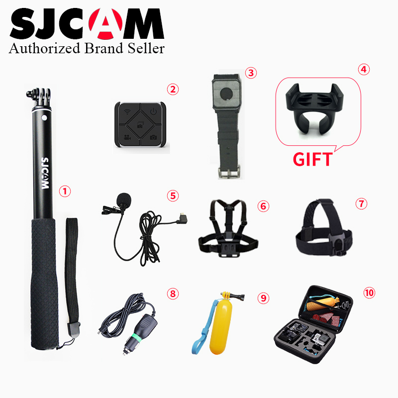 Sjcam Accesorios micrófono + control remoto monopod correa de pecho correa de cabeza montaje para M20 sj6 Legend sj7 acción cámara
