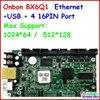 Onbon Bx 6Q1 Ethernet Rj45 Port Control Size 1024 64 Support 4 HUB75 USB Ethernet Async
