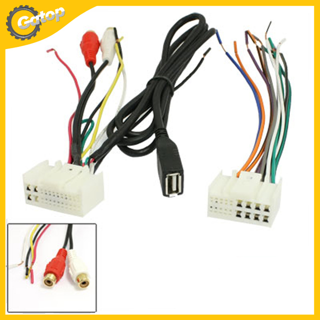 Car Stereo CD Radio Wire Harness Adapter USB Cable AUX Adapter Auto Electronic Wire Terminal Conversion_640x640 aliexpress com buy car stereo cd radio wire harness adapter usb wire harness troubleshooting at gsmportal.co