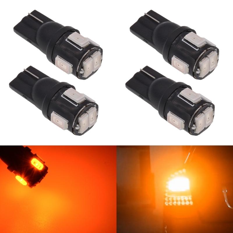 Катур Т10 W5W и оранжевый LED интерьер карта свет багажник груза огни предоставлено угловой боковые Габаритные светодиодные фонари T10 желтый/Янтарный свет