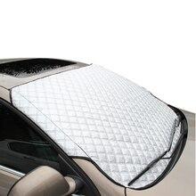 YIKA parasol del coche ventana parasol sombrilla del parabrisas delantero del coche parasol portátil cobertura universal tonos nieve para SUV y Ordinario