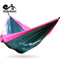 300 200cm 2 Person Portable Folding Hammock Patio Swing Outdoor Camping Canvas Cotton Double Parachute Tassels