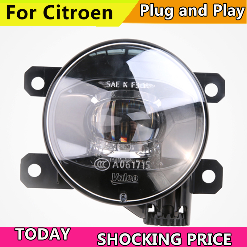 Car Styling FOR VALEO LED Fog Lamp Assembly for Citroen C2 C3 C3-XR C4 C5 DS3 DS4 DS5 D6S C-Triomphe C-Quatre LED Fog Light комплект дефлекторов vinguru накладные скотч для mitsubishi outlander new 2012 4 шт