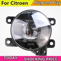 Car Styling FOR VALEO LED Fog Lamp Assembly for Citroen C2 C3 C3 XR C4 C5 DS3 DS4 DS5 D6S C Triomphe C Quatre LED Fog Light