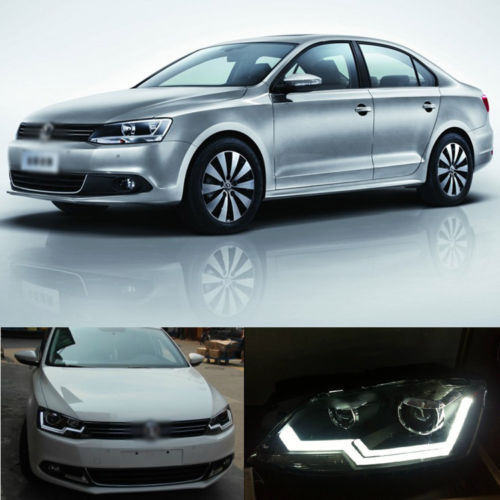 Ownsun Innovative Cubic Effect LED DRL Bi-Xenon Headlight for Volkswagen Jetta Sagitar