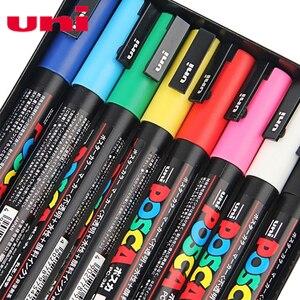 Image 4 - Uni Posca stylo marqueur de peinture, PC 3M, pointe Fine, 0.9mm 1.3mm, ensemble de 8 couleurs