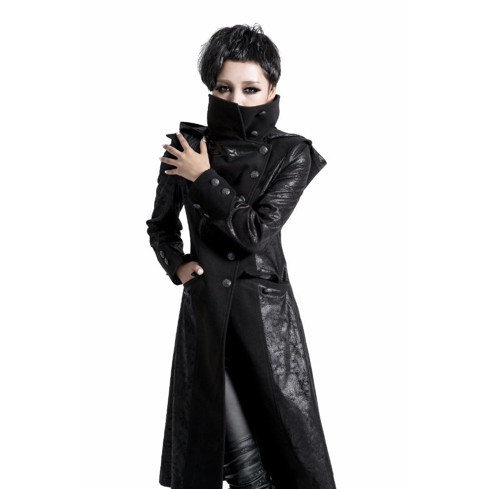 Steelsir продвижение зима осень Готический Черный Кожаный длинная куртка Для женщин панк пальто балахон женский Kawasake ниндзя куртки верхняя оде