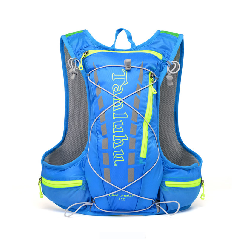 15L Bags Hiking Backpack Vest Marathon Running Cycling Backpack For 2L Water Bag