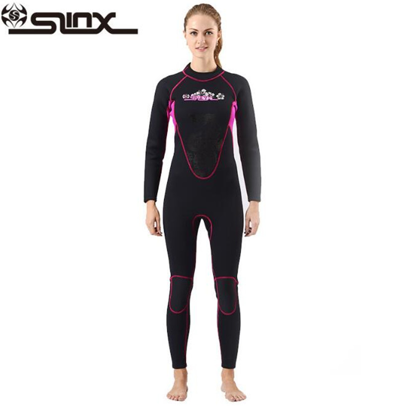 SLINX CORAL 1102 3mm Neoprene Women Scuba Diving Suit Kite Surfing Snorkeling Spear Fishing Boating Windsurfing Swimwear Wetsuit slinx spro 1103 3mm neoprene men spearfishing kite surfing scuba diving suit snorkeling boating short sleeve wetsuit swimwear