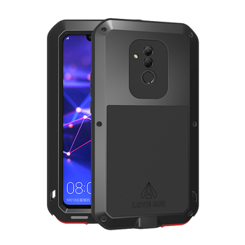 Luxury 360 Degree Full Body Protect Case For Huawei Mate 20 Lite 20Lite Mate20lite Shockproof Metal Armor Tempered Glass Cover