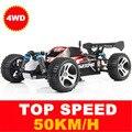 WLtoys A959 2.4G 4CH de Alta Velocidad Del Coche Eje RC Stunt carreras de Coches de Control Remoto Súper Vehículo Off-Road coche de juguete de Energía FSWB