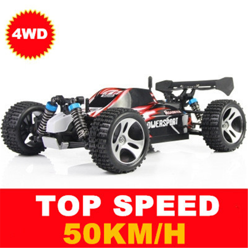 WLtoys High Speed ​​Car A959 2.4G 4CH Shaft Drive RC Stunt Racing Bil Fjernbetjening Super Power Off-Road Vehicle Legetøj Bil FSWB