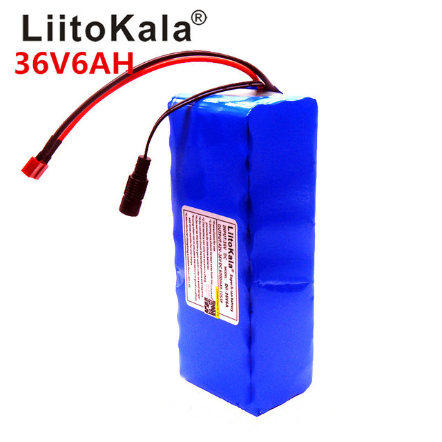 2018 LiitoKala 36V 6ah 500W 18650 lithium battery 36V 8AH Electric bike battery for electric bicycle